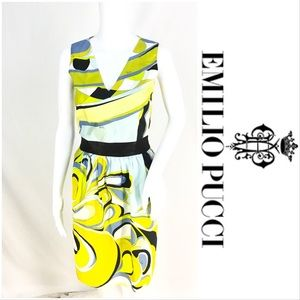 Emilio Pucci Gorgeous Dress Blues Yellows